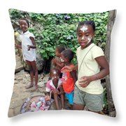 Children Of Madagascar Throw Pillow