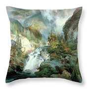 Children Of The Mountain Throw Pillow