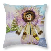 children of the North Throw Pillow