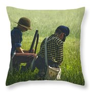 Children Of War Throw Pillow