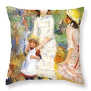 Children On The Seashore 1883 Throw Pillow