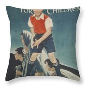 Children's Crusade For Children Throw Pillow