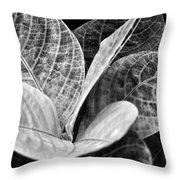 Children's Garden Leaves Throw Pillow