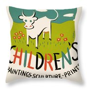 Children's Paintings-sculpture-prints Throw Pillow
