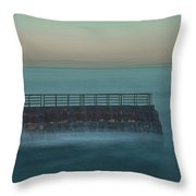Children's Pool In The Mist Throw Pillow