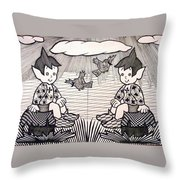 children's World Throw Pillow