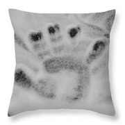 Childs Hand Throw Pillow