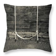 Child's Swing On An Old Farm Throw Pillow