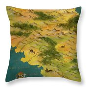 Chile And Argentina With The Magellan Strait Throw Pillow