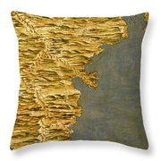 Chile And Argentina With The Strait Of Magellan Throw Pillow