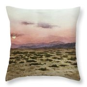 Chile Desert Throw Pillow