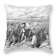 Chile: Wine Harvest, 1889 Throw Pillow