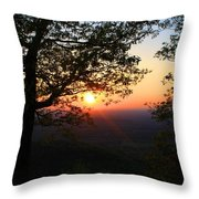 Chilhowee Sunset Throw Pillow