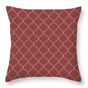 Chili Oil Quatrefoil Throw Pillow