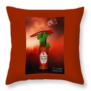 Chili Pepper, Coriander And Peri-peri By Kaye Menner Throw Pillow