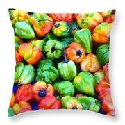 Chili Pepper Fest Throw Pillow