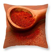 Chili Powder Throw Pillow by Louise Heusinkveld