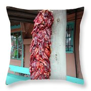 Chilies In Albuquerque Throw Pillow