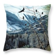 Chilkat River Eagles Throw Pillow