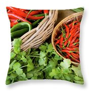 Chillies 08 Throw Pillow