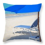 Chilling On The Beach Anguilla Caribbean Throw Pillow