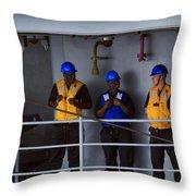 Chilling Sailors Throw Pillow