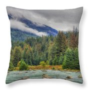Chillkoot River Hdr Paint Throw Pillow