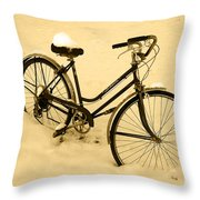 Chilly Ride Throw Pillow