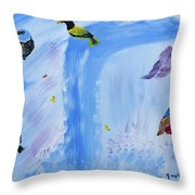 Chimes Of A Waterfall Dream Throw Pillow