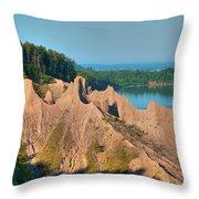 Chimney Bluffs 1750 Throw Pillow