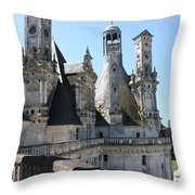 Chimney From Chambord - Loire Throw Pillow