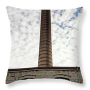 Chimney Of An Old Factory Throw Pillow