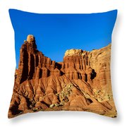 Chimney Rock At Capitol Reef Throw Pillow