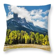 Chimney Rock Autumn Throw Pillow