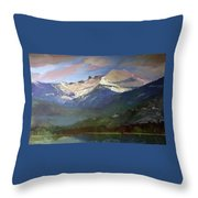 Chimney Rock Priest Lake Throw Pillow