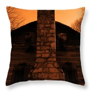 Chimney Sky In Sepia Throw Pillow