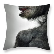 Chimpanzee Profile Vignetee Effect Throw Pillow