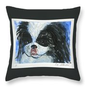 Chin-wow Throw Pillow