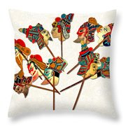 China - Land Of Many Faces Throw Pillow by Christine Till