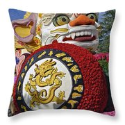 China Airlines Parade Float Throw Pillow