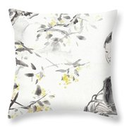 China Ancient Female Throw Pillow