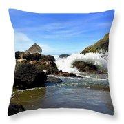 China Beach Throw Pillow