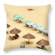 China Beach Da Nang Throw Pillow