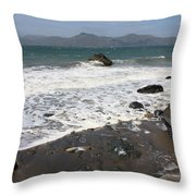 China Beach With Outgoing Wave Throw Pillow