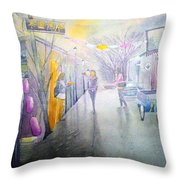 China Beijing Street Throw Pillow