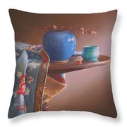 China Blues Throw Pillow