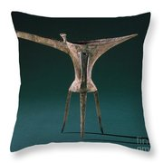 China: Bronze Pitcher Throw Pillow