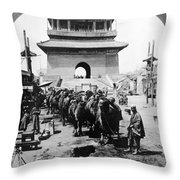 China: Caravan, C1919 Throw Pillow