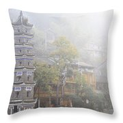 China City Throw Pillow