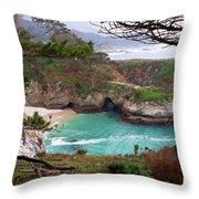 China Cove At Point Lobos Throw Pillow